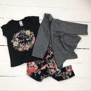 Other - 6 Mos Black Floral Set